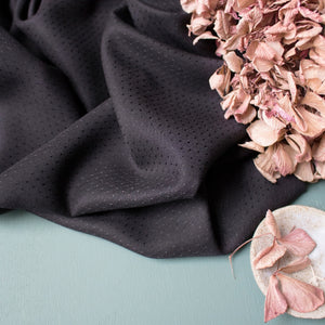Black Dobby - Viscose containing Lenzing™ EcoVero™ viscose fibres - Atelier Brunette