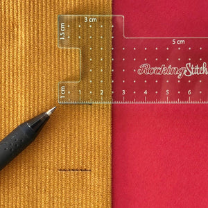 Seamstress Gauge Metric - Rocking Stitch - Haberdashery & Tools - Rocking Stitch - Sew Me Sunshine