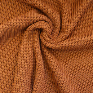 Teak Brown - Knitted Fabric - END OF BOLT 90cm