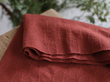 Organic Leaf Jacquard Sienna - Organic Cotton Jacquard Knit - mind the MAKER