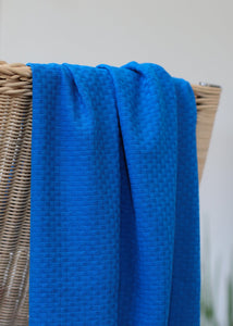 Intense Blue - Organic Cotton Wicker Knit - mind the MAKER