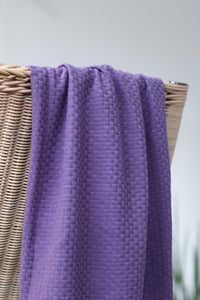 Violet Fig - Organic Cotton Wicker Knit - mind the MAKER