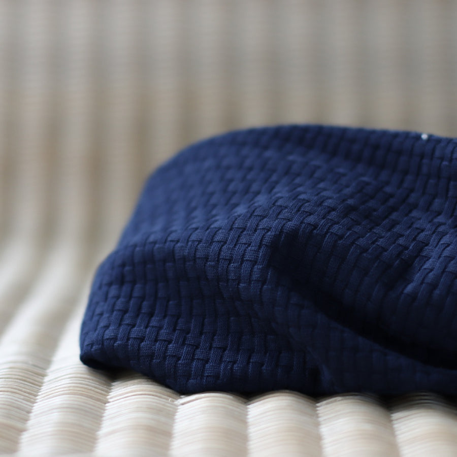 Indigo Night - Organic Cotton Wicker Knit - mind the MAKER - Fabric - mind the MAKER - Sew Me Sunshine