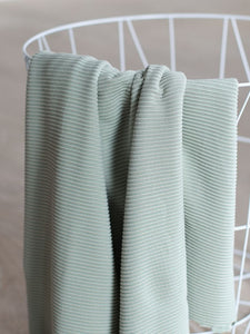 Soft Mint - SELF-STRIPE OTTOMAN KNIT with LENZING™ ECOVERO™ fibres - meetMILK