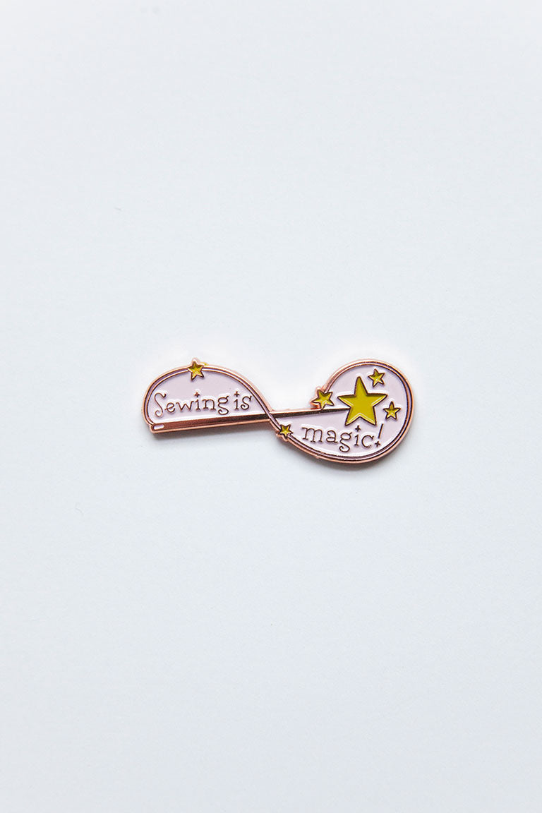 Sewing is Magic - Colette - Enamel Pin - Sew Me Sunshine - Sew Me Sunshine