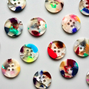 Painterly Set - Pack of 15 - 15mm Shirting Buttons