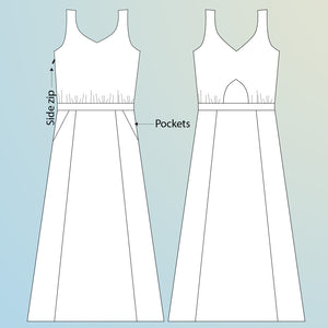 Rosalee Dress - Experimental Space Patterns