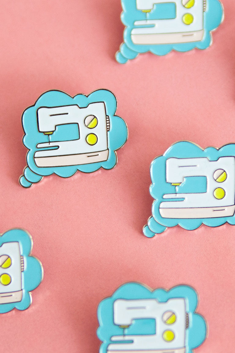 Thinking of Sewing Pin - Colette - Enamel Pin - Sew Me Sunshine - Sew Me Sunshine