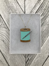Pastel Mint Green Acrylic Cotton Reel Necklace - Sew Dainty - Sewing Kits & Gifts - Sew Dainty - Sew Me Sunshine
