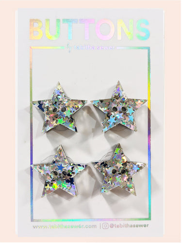 Oh My Stars! Star Buttons 20mm (.81