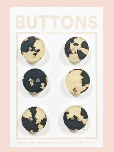 Tortoise Cafe Classic Round Buttons 15mm (.59