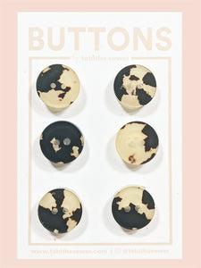 "Tortoise Cafe Classic Round Buttons 15mm (.59"")"