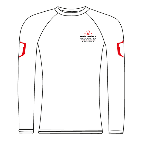 Hartpury University & College BC White Long Sleeve Baselayer
