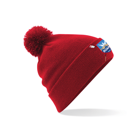 BOARC Red Bobble Hat