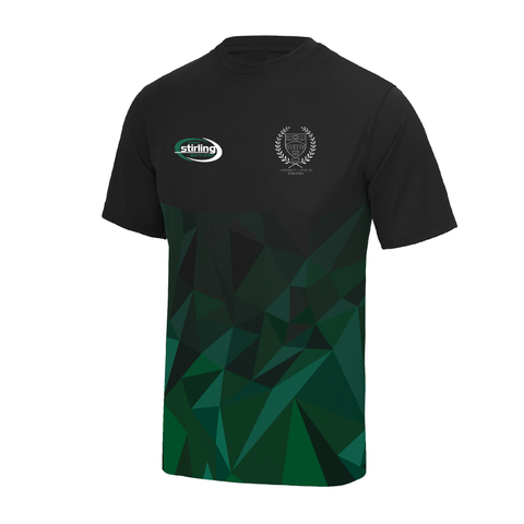 Stirling University Athletics Club Patterned Gym T-Shirt