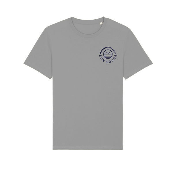 Monster the Loch Cotton T-Shirt Grey