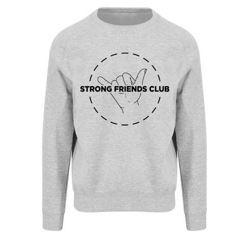 Strong Friends Club Heather Grey Sweatshirt