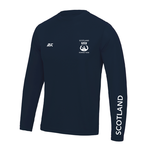 Scotland Rowing Team Long Sleeve Gym T-shirt