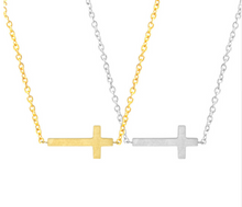 Leo Womens Christian Cross Pendant Necklace