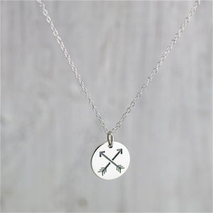 Leo Crossed Arrows Necklace