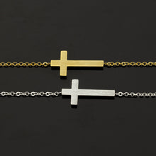 Leo Womens Christian Cross Bracelet