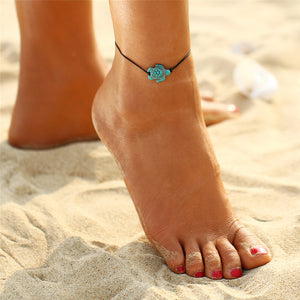 Leo Turquoise Turtle Anklet