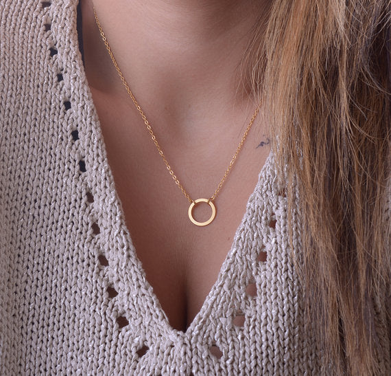 Leo Womens Circle Necklace