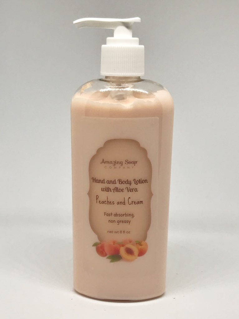 Peaches and Cream Lotion - Amazing Soap Company