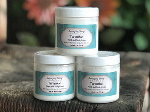 Turquoise Hand and Body Cream - Amazing Soap Company