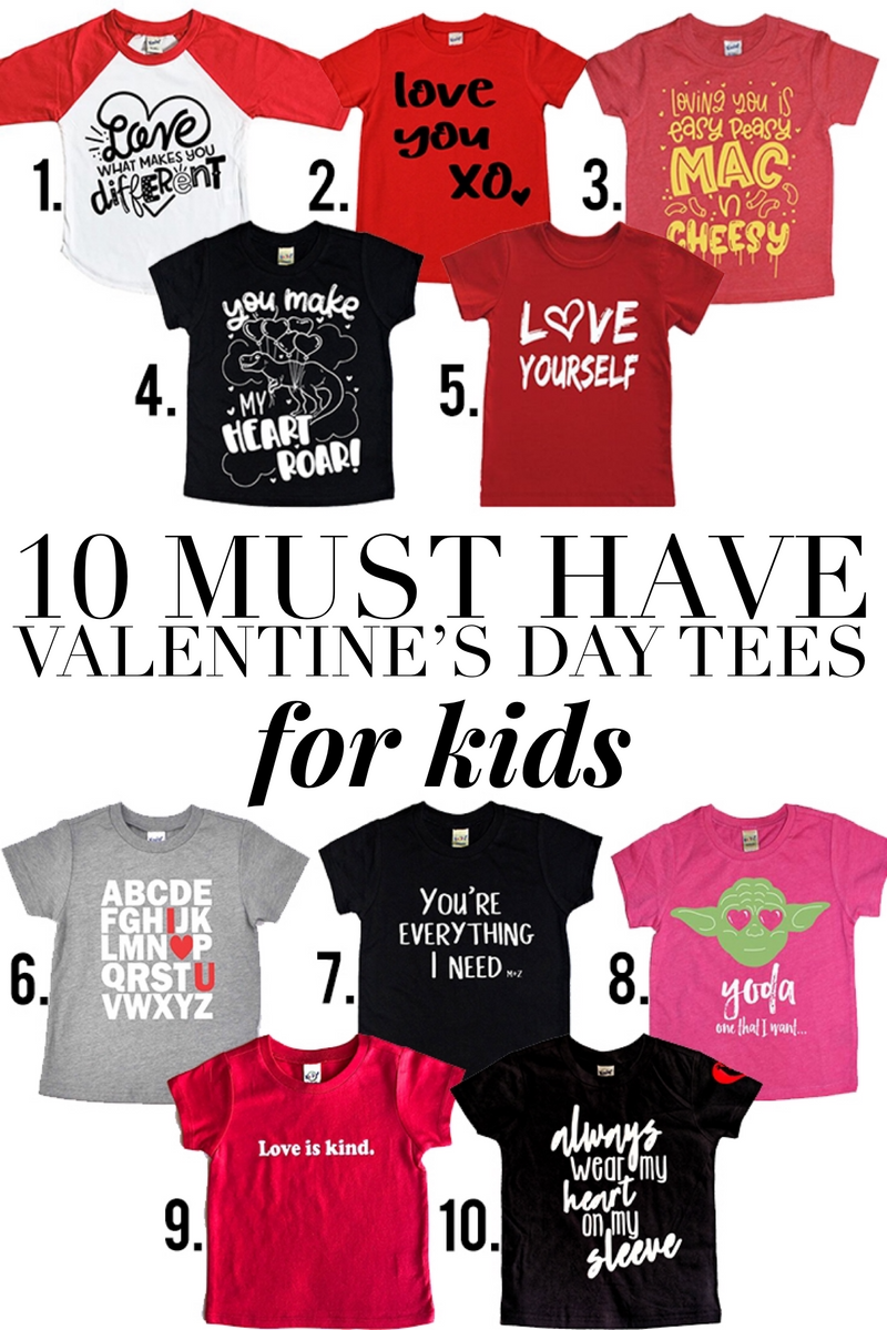 TOP 10: MUST HAVE VALENTINE'S DAY TEES FOR KIDS