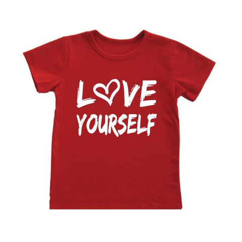 love yourself kids graphic tee