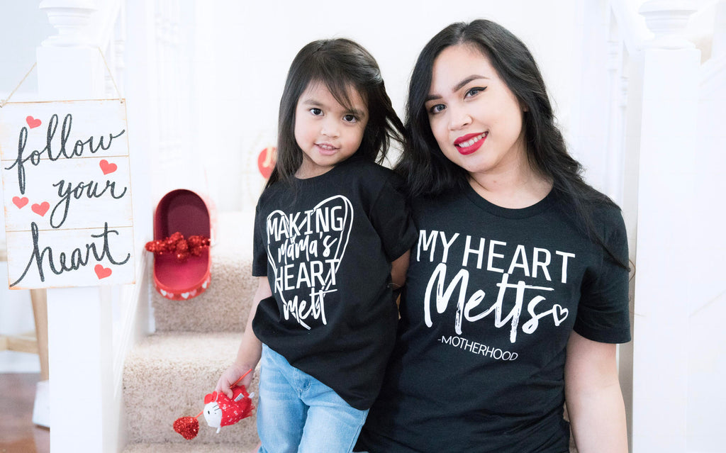 Mommy and Me graphic tee shirt set