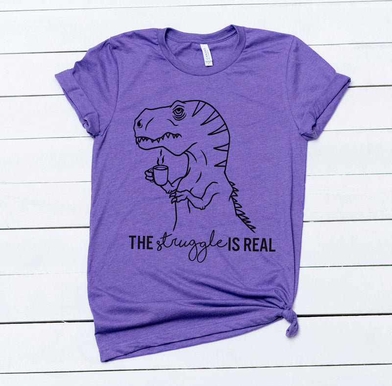 Struggle T-Rex - Adult Purple Unisex Tee