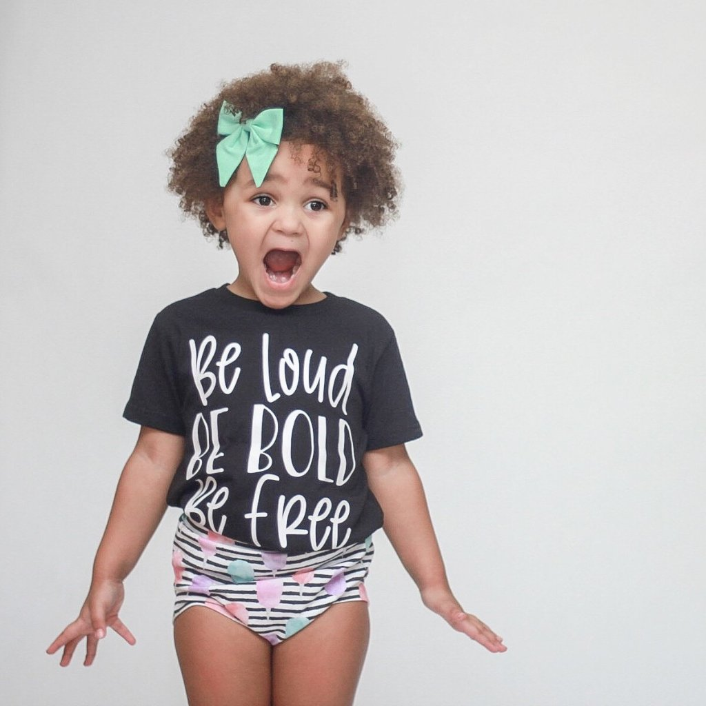 Be Loud Be Bold Be Free - Kids Tee