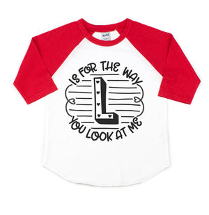 L is for the Way - Kids Raglan