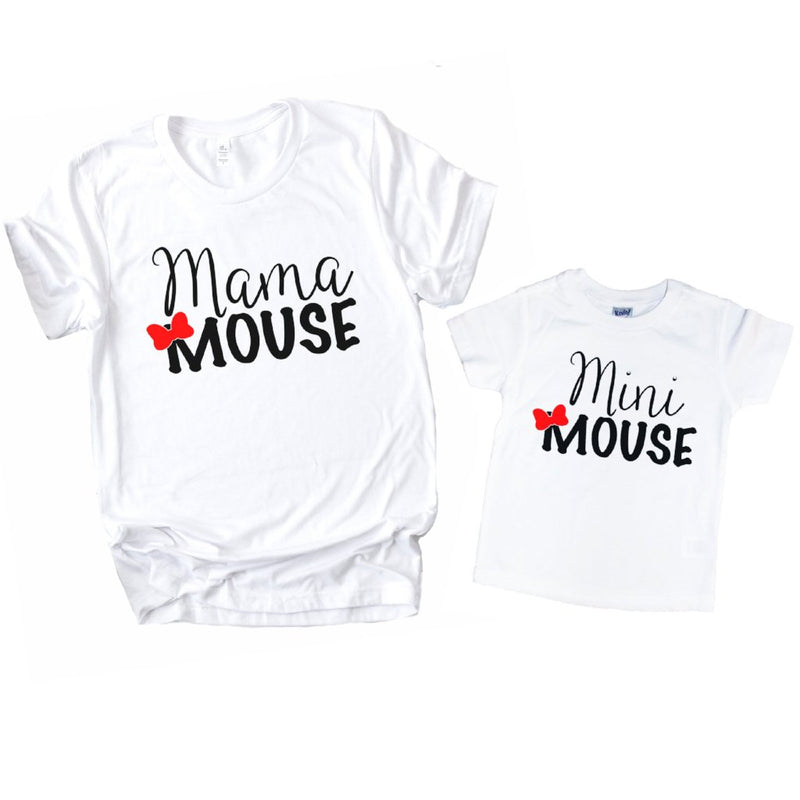 Mama & Mini Mouse - Matching Shirt Set