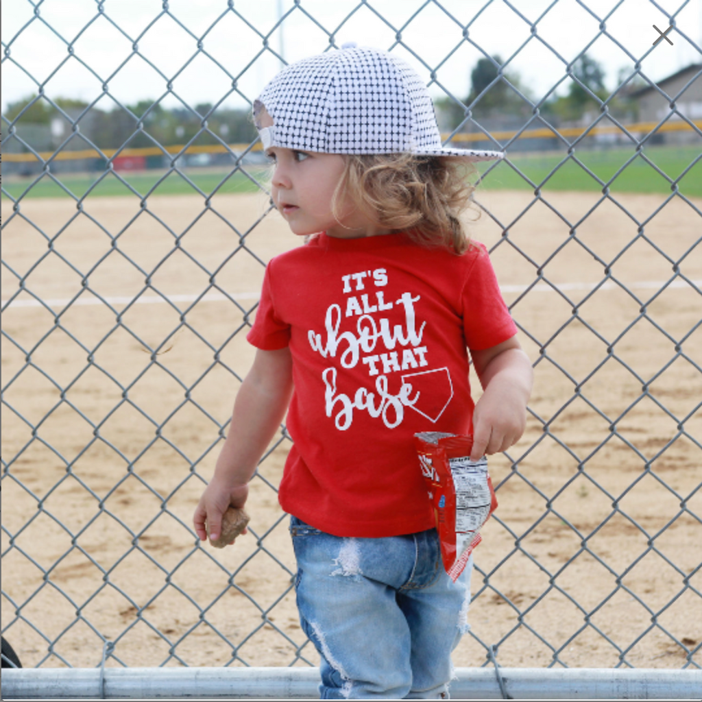 It's All About That Base - Kids Baseball Tee