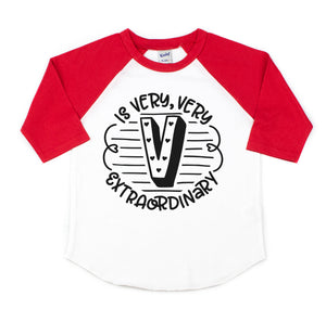 V is Very Very Extraordinary - Kids Raglan