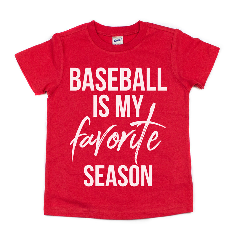 baseball is my favorite season baseball shirt for kids boys girls toddler baby baseball tshirt