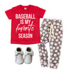 Baseball is my Favorite Season - Kids Baseball Tee