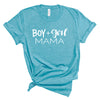 Boy + Girl Mama - Heather Aqua Unisex Tee