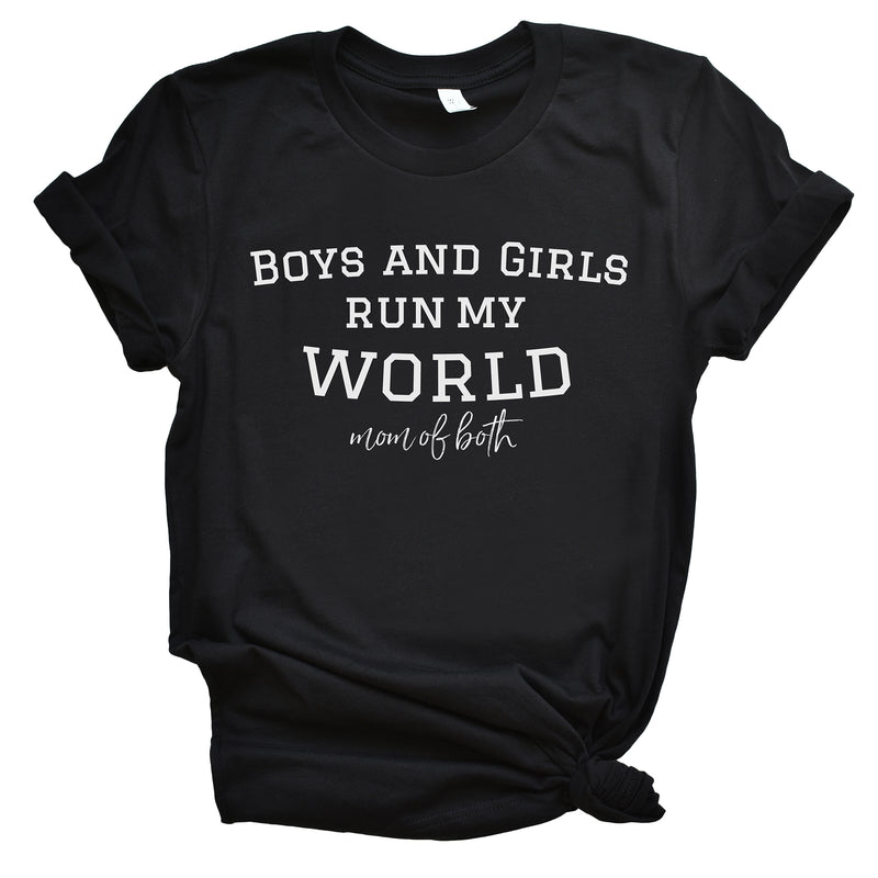 Boys and Girls Run my World - Black Unisex Tee