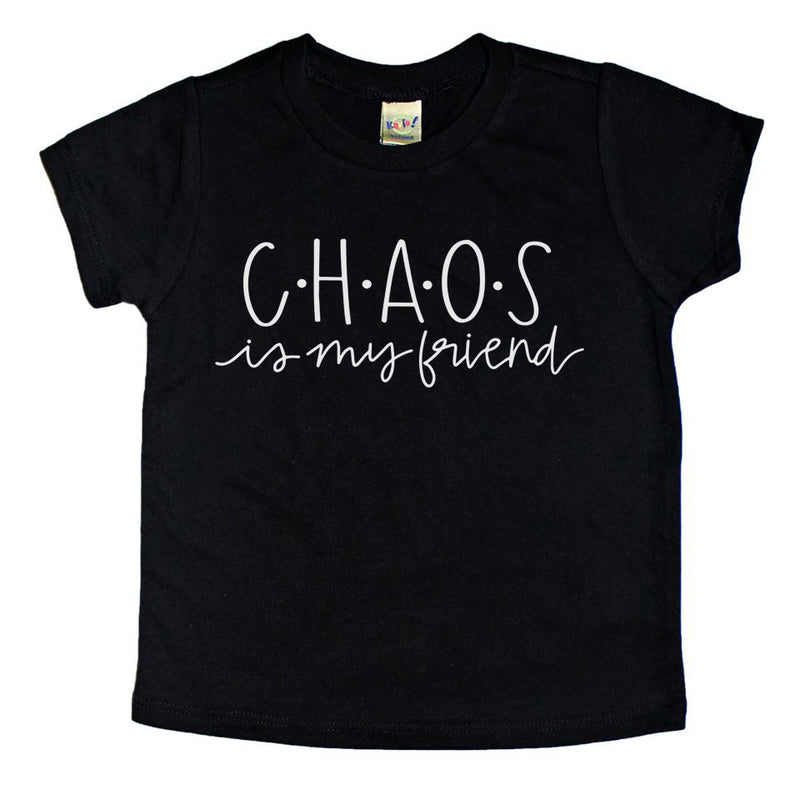 chaos kids funny graphic tee shirt toddler shirt boys shirt girls shirt baby tee