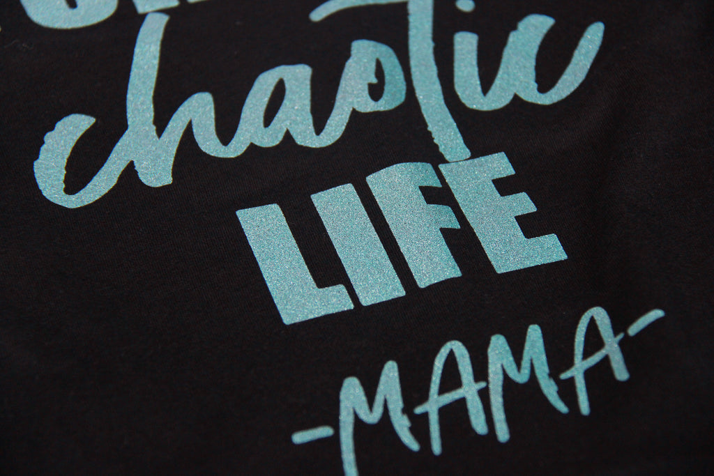 Made for this Chaotic Life - Teal Shimmer/Black Unisex Tee