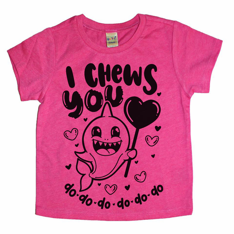 I Chews You Shark - Kids Valentine's Day Tee