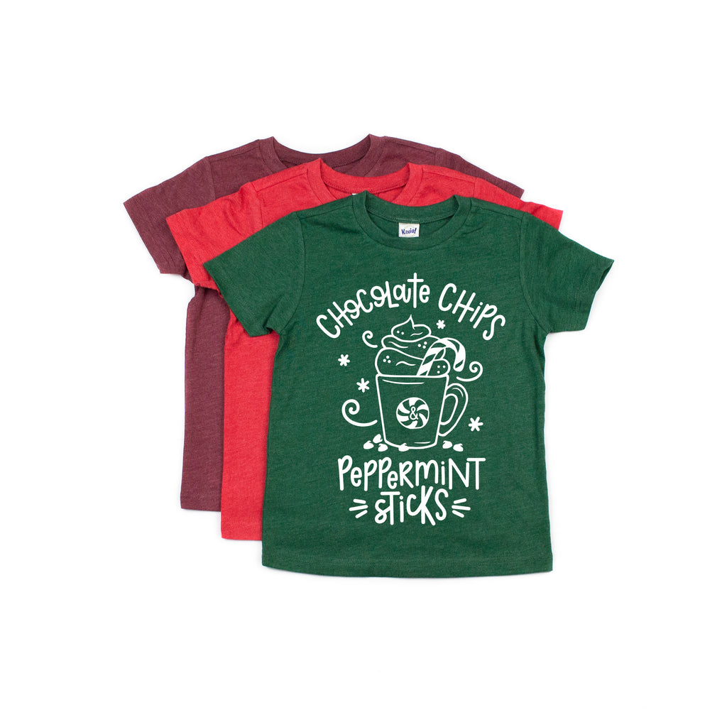 Chocolate Chips & Peppermint Sticks - Kids Holiday Tee