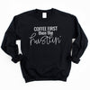 Coffee First then the Hustlin' - Black Unisex Fleece Pullover