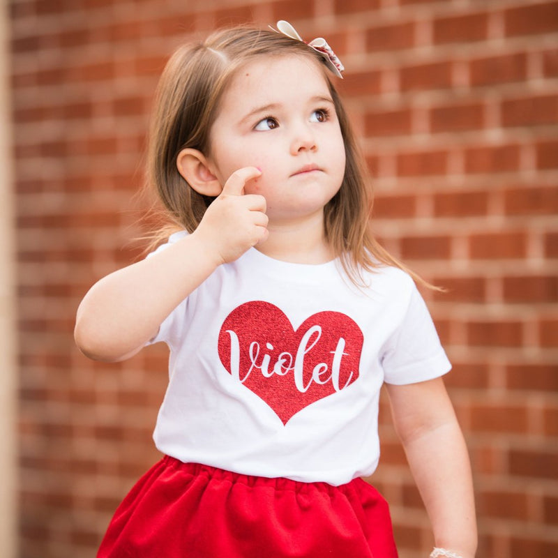 Personalized Heart  - Kids Tee