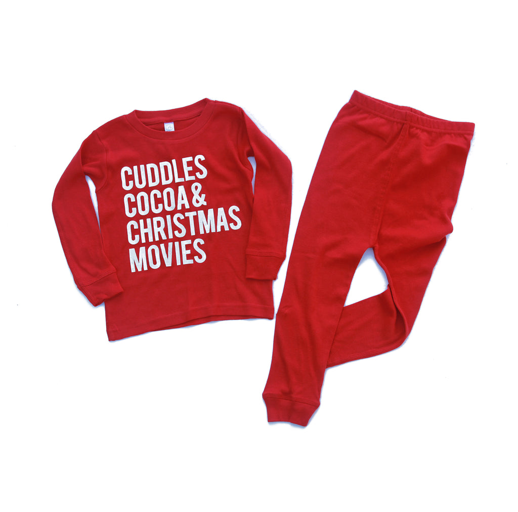 Cuddles Cocoa & Christmas Movies - Infant/Toddler Pajama Set
