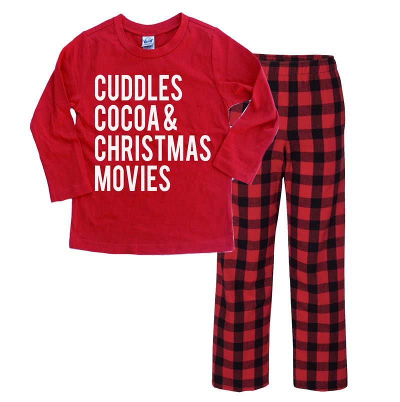 Cuddles Cocoa & Christmas Movies -Youth Pajama Set